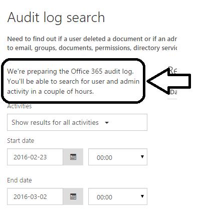 audit log in the Office 365 « John Yassa's Blog